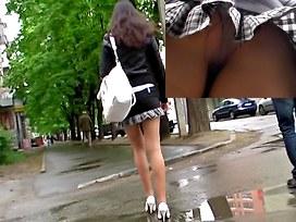 College girl up skirt